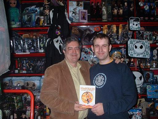 Luigi Cozzi and Me in Dario Argentos shop in Rome