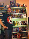 Thats me by the dvd shelf.