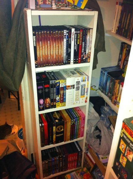 My smaller shelf..Yep theres a big shelf next to it I'll take pics of that later.
