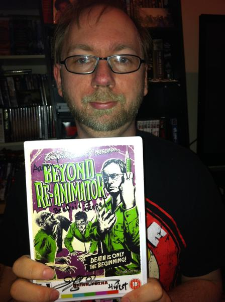 Me with my signed copy of Beyond Re-Animator. Also got the poster signed.