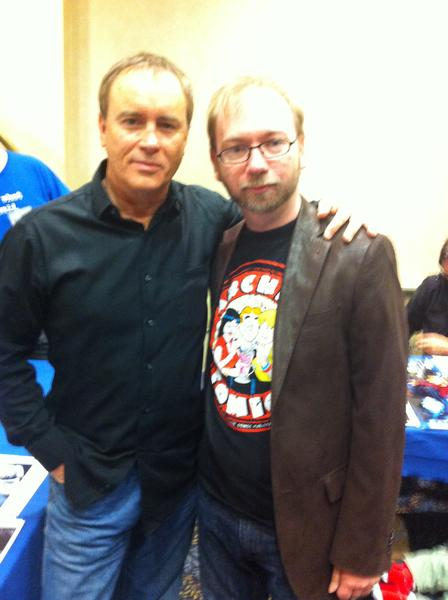 Jeffrey Combs and I. He was one of the nicest guys I have met and very talkative. He had never heard of Arrow Video before or seen the Beyond Re-Animator dvd. He thought it was cool and spent some time talking about it and the company. Gave you free publicity there Arrow .lol