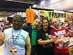 Hanging out with my GF, Lloyd Kaufman and of course Toxie.